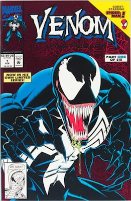 Venom Lethal Protector #1: red background. Click for values