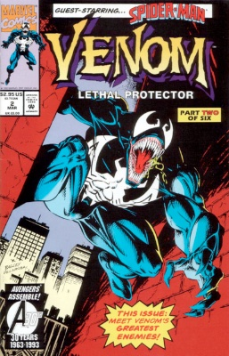 Origin and First Appearance, Sentry, Venom: Lethal Protector #2, Marvel Comics, 1993. Click for value