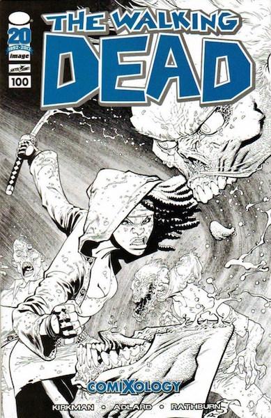 #75: Walking Dead 100 Ottley Sketch (2012). Click for values