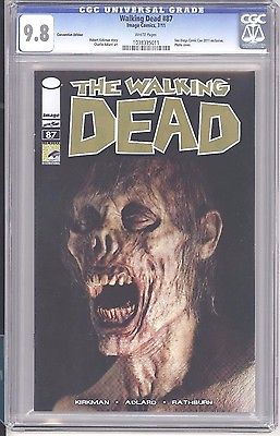Walking Dead Comic #87 San Diego ComicCon Variant. Record sale in CGC 9.8 $70. Click to buy one