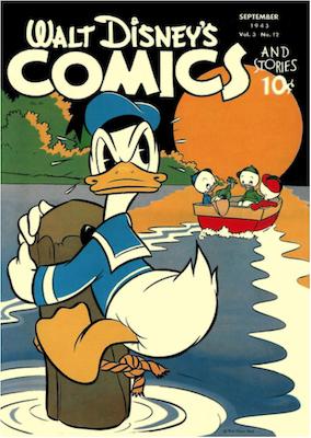 Walt Disney's Comics and Stories #36. Click for values.