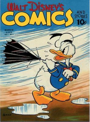 Walt Disney's Comics and Stories #6. Click for values.
