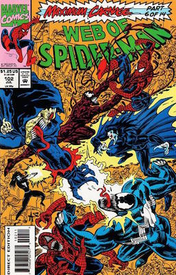 Web of Spider-Man #102: Carnage Marvel comic. Click for values
