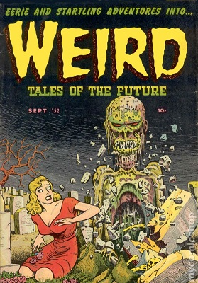 Weird Tales of the Future #3 (1952): Classic Cover art. Click for values
