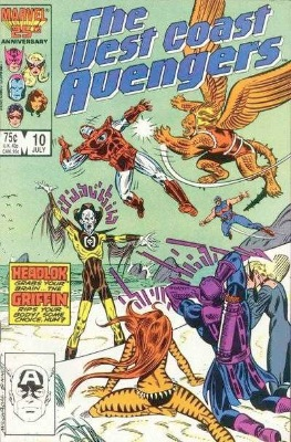 Origin and First Appearance, Headlok, West Coast Avengers #10, Marvel Comics, 1986. Click for value