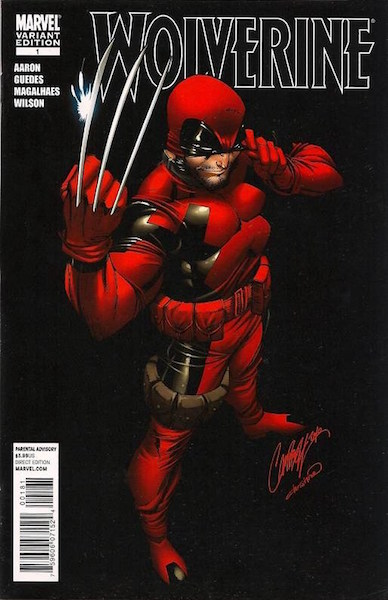 Wolverine 1 (Deadpool) Campbell Variant (2010). Click for values