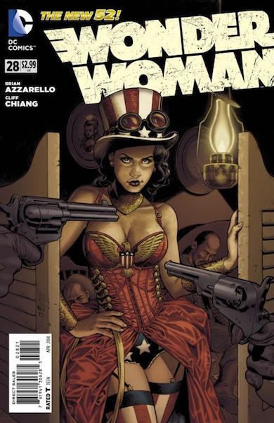 "#83: Wonder Woman 28 ""Steampunk"" Variant, Jones (2014). Click for values"