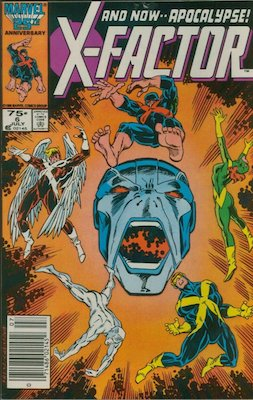 X-Factor #6 (1986): First Appearance, Apocalypse. Newsstand variant. Click for value