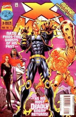 Origin and First Appearance, Onslaught, X-Man #15, Marvel Comics, 1996. Click for value