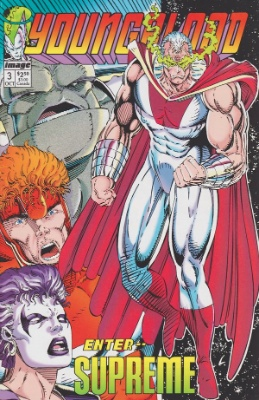 Origin and First Appearance, Supreme, Youngblood #3, Image Comics, 1992. We'll appraise your comics free. Click here!