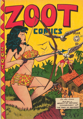 Zoot Comics #14. Matt Baker cover. Click for values