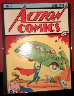 Action Comics #1 Value: Has the front cover had varnish or glaze painted on in the past?
