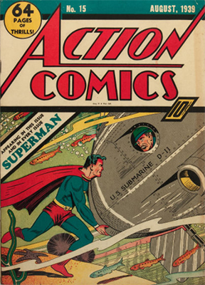 Action #15: 5th Superman cover. Click for values
