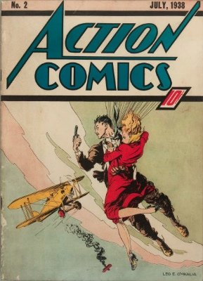 Action Comics #2 (Jul 1938): Second Appearance of Superman. Click for values