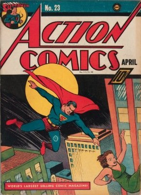 Origin and First Appearance, Lex Luthor, Action Comics #23, DC Comics, 1940. Click for value