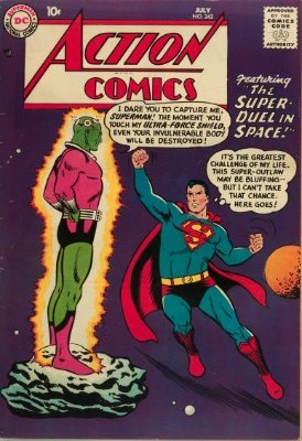 Action Comics #242 (July 1958): Origin and First Appearance, Brainiac. Genuinely rare for the period. Seldom offered. Click for values