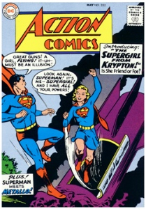 Superman in Action Comics #252: Origin and First Appearance of SuperGirl