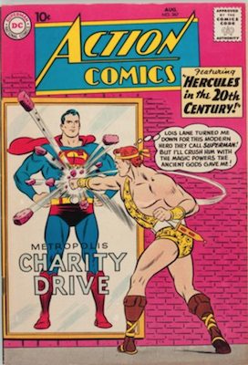 Action #267: First Appearance of Supergirl as Superwoman. Click for value