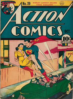 Action #29: 1st Appearance of Lois Lane. Click for values
