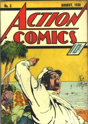 Action Comics #3: 3rd appearance of Superman. Rare comic. Click for value