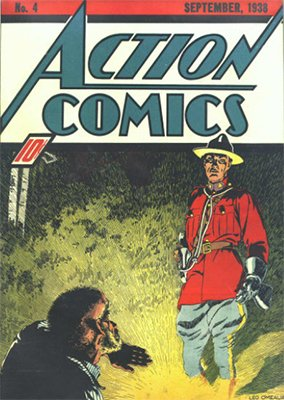 Action Comics #4 (Sep 1938): Fourth Appearance of Superman (Plays Football in the Story). Click for values