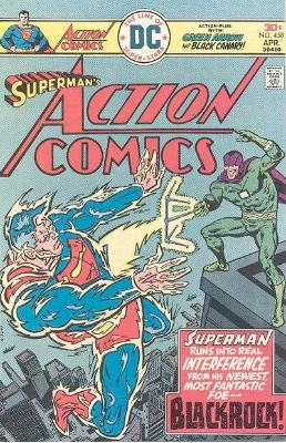 Origin and First Appearance, Blackrock, Action Comics #458, DC Comics, 1976. Click for value