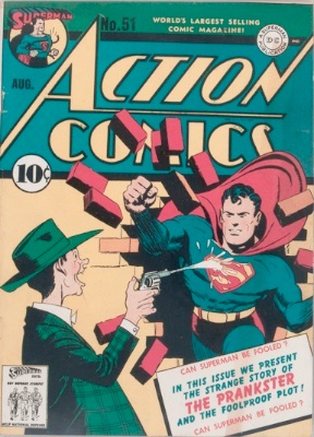 Origin and First Appearance, Prankster, Action Comics #51, DC Comics, 1942. Click for value