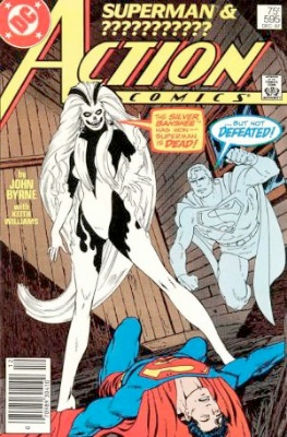 Origin and First Appearance, Silver Banshee, Action Comics #595, DC Comics, 1987. Click for value