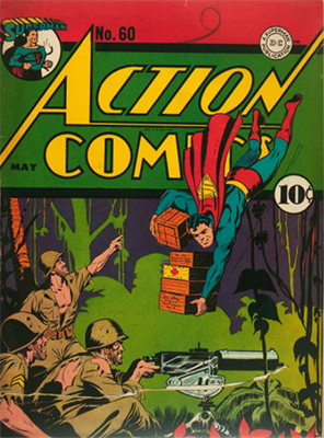Tryout in Action Comics #60 (May 1943): Lois Lane, Superwoman. Click for values