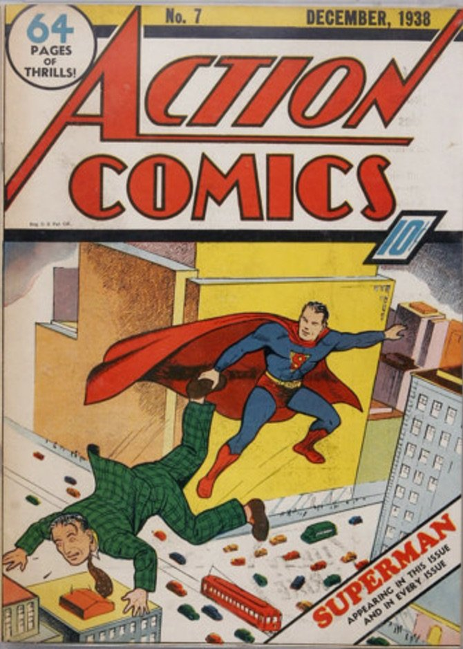 Action Comics #7 (1938), second Superman cover