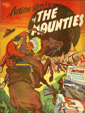 Action Stories of the Mounties comic