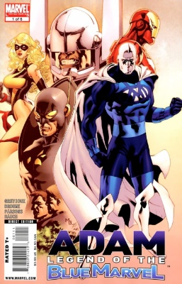 Origin and First Appearance, Blue Marvel, Adam: Legend of the Blue Marvel #1, Marvel Comics, 2008. Click for value