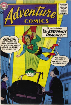 Adventure #256: Origin of Green Arrow by Kirby. Click for values