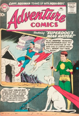 Origin and First Appearance, Aqualad, Adventure Comics #269, DC Comics, 1960. Click for value