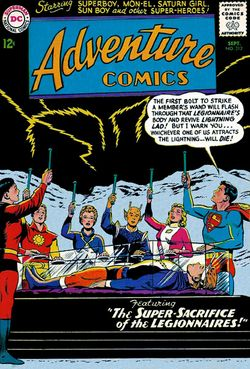 Adventure Comics #312: the actual return of Lightning Lad. Click for current values