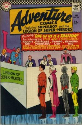 Origin and First Appearance, Nemesis Kid, Adventure Comics #346, DC Comics, 1966. Click for value