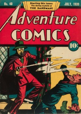 Adventure Comics #40, first Sandman in the title. Click for values