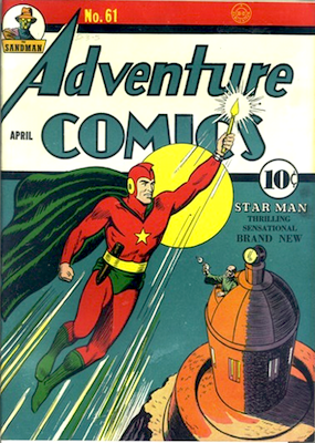 Origin and First Appearance, Starman (Ted Knight), Adventure Comics #61, DC Comics, 1941. Click for value