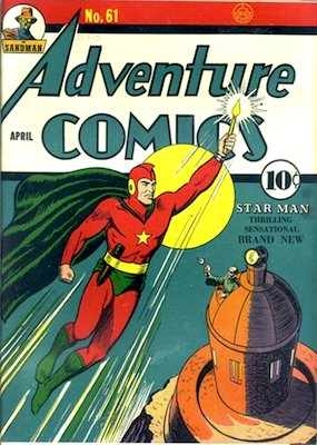 Golden Age Adventure Comics with superhero appearances are valuable