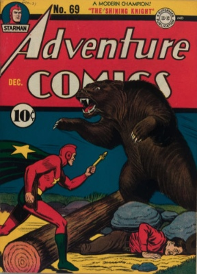 Adventure Comics #69: Origin and First Appearance, Sandy the Golden Boy. Click for values