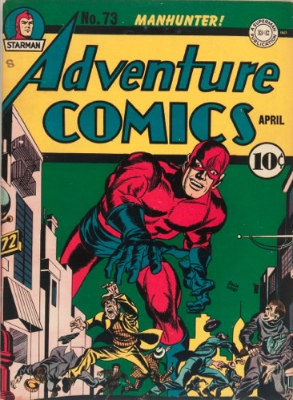 Adventure Comics #73: Origin and First Appearance, Manhunter (Paul Kirk). Click for values