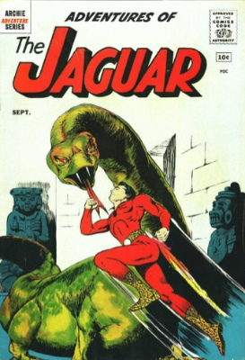 Origin and First Appearance, the Jaguar, Adventures of the Jaguar #1, DC Comics, 1961. Click for value