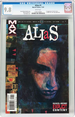 You should not lower your standards with modern books. Always insist on CGC 9.8 copies with white pages. Click to buy a copy of Alias #1.
