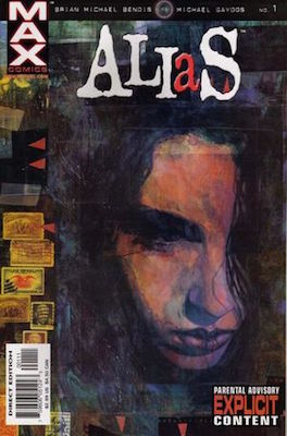 Alias #1 (2001) 1st Appearance of Jessica Jones. Click for values