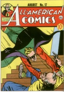 All-American Comics #17 (1940). Second Green Lantern in comics, a rare comic book!