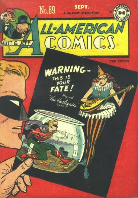 Origin and First Appearance, Harlequin, All-American Comics #89, DC Comics, 1947. Click for value