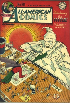 Origin and First Appearance, Icicle, All-American Comics #90, October, 1947. Click for value