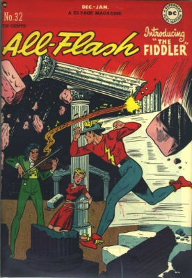 Origin and First Appearance, Fiddler, All-Flash #32, DC Comics, 1948. Click for value
