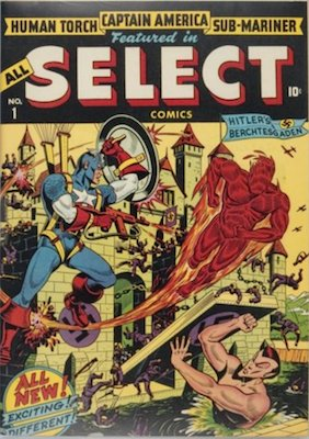 All-Select Comics #1 (Fall 1943): Timely, First Issue in Series. Click for values