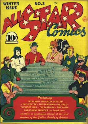 All-Star Comics #3 (November 1940): Origin and first appearance, Justice Society of America